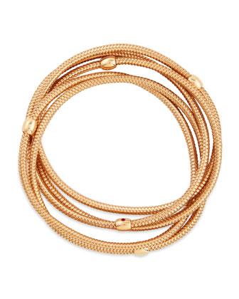 Primavera 18k Rose Gold 5-Strand Bracelet