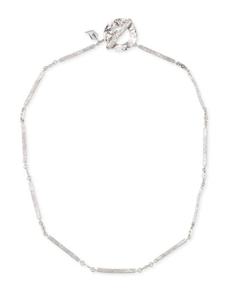 Serenity Silver Twig & Diamond Necklace