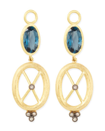 London Blue Topaz & 18k Gold Charms, Set of 2
