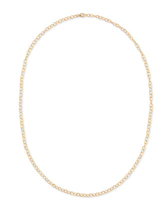 18k Yellow Gold Oval-Link Chain Necklace