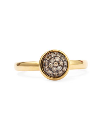 18k Yellow Gold Stacking Baubles Ring, Champagne Diamond
