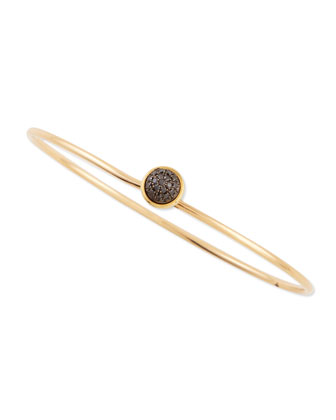 Baubles 18k Yellow Gold Small Stacking Bracelet, Black Diamond