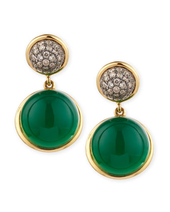 Baubles Big Diamond & Chalcedony Earrings