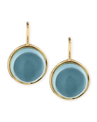 Baubles 18k Large Blue Topaz Earrings