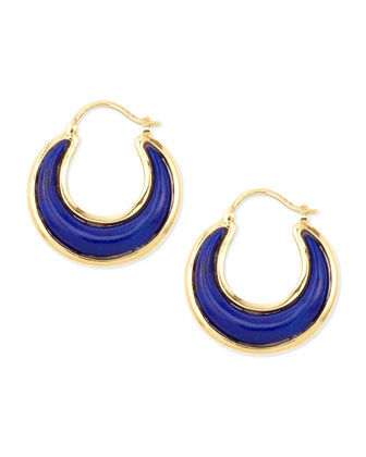 Luna 18k Lapis Lazuli Earrings
