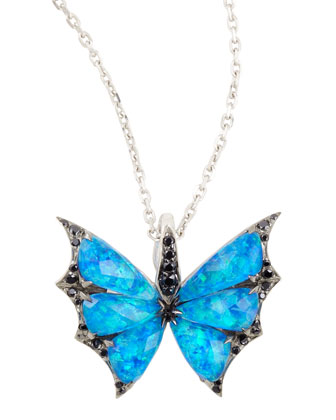 Fly By Night Crystal Haze Minor Flutter Necklace