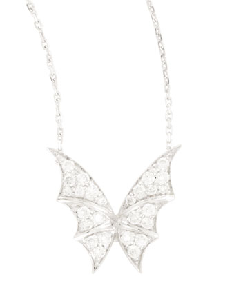 Fly By Night Mini Flutter Bat-Moth Pendant Necklace