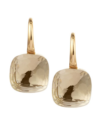 Nudo 18k Gold Colorless Topaz Earrings