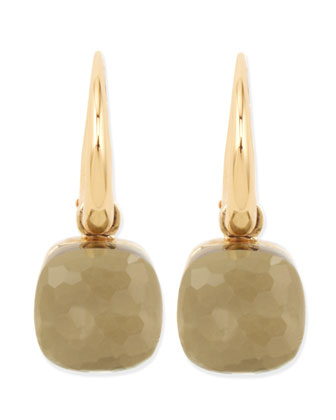 Nudo Small 18k Gold Prasiolite Earrings