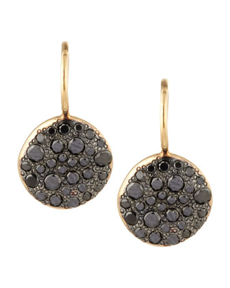 Sabbia Black Pave Diamond Earrings, 0.78 TCW