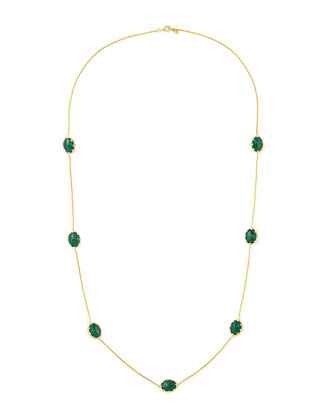 Tivoli Malachite Station Necklace, 36