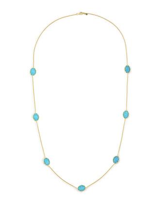 Tivoli Turquoise Station Necklace, 36