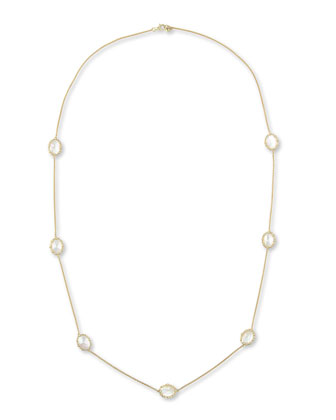 Tivoli White Mother-of-Pearl Station Necklace, 36