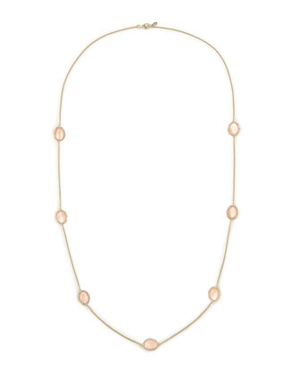 Tivoli Pink Mother-of-Pearl Station Necklace, 36