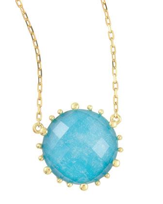 Tivoli Turquoise Pendant Necklace, 17
