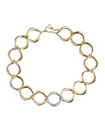 Aladdin Large Link Bracelet with Diamonds