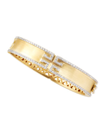Metropolis Diamond Bangle, 11mm