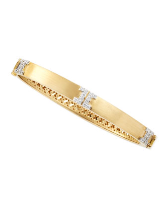 Metropolis Small Diamond Bangle, 6.5mm