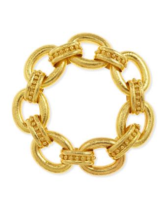 Ischia 19k Gold Large Link Bracelet