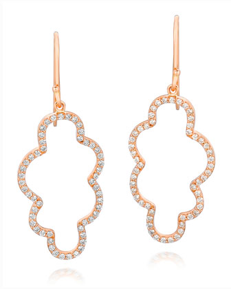 18k Rose Gold Small Cloud Diamond Earrings
