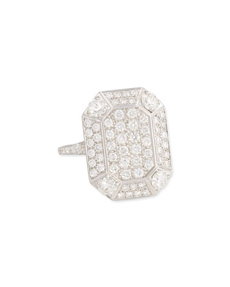 18 White Gold Pave Diamond Ring
