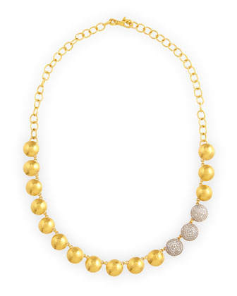 Lentil Ice 24k Gold & Diamond Necklace