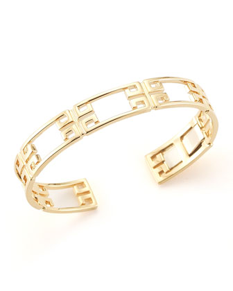 Patras 18k Yellow Gold Open-Frame Bangle