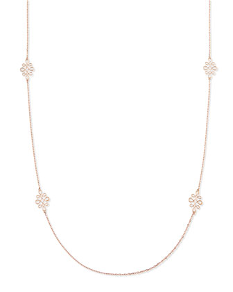Eloise 18k Pink Gold Polished Necklace, 35