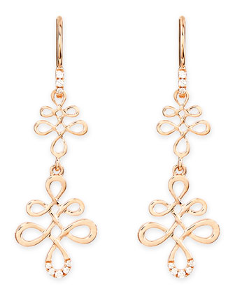 Eloise 18k Pink Gold & Diamond Earrings