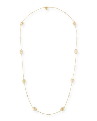 Lace Signature Chain Necklace with Diamonds, 34