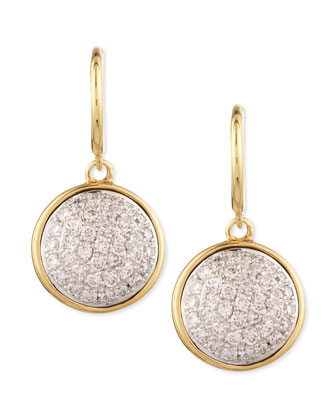 18k 10mm Chakra Champagne Diamond Earrings