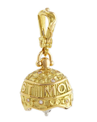 18k #3 Best Mom Ever Meditation Bell Pendant
