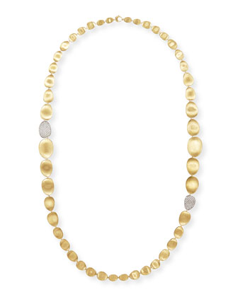 Diamond Lunaria 18k Gold Necklace, 36