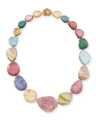 One-of-a-Kind 18k Multicolor Watermelon Tourmaline Necklace