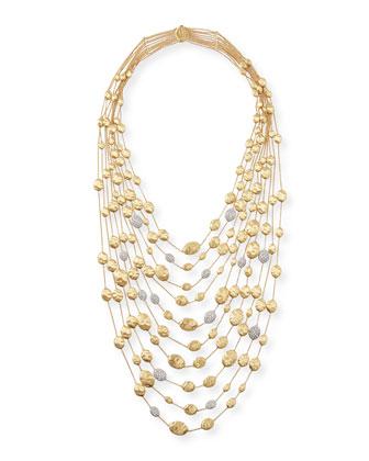 18k Gold Diamond Siviglia Multi-Strand Bib Necklace