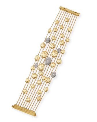 18k Gold Diamond Siviglia Multi-Strand Bracelet
