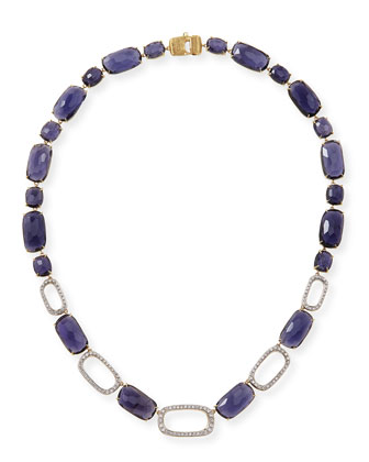 One-of-a-Kind 18k Iolite & Diamond Necklace
