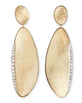 Lunaria 18k Gold Earrings with Rose-Cut Diamonds