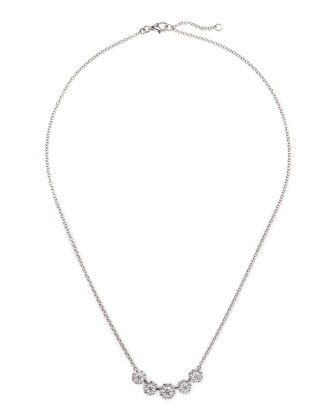 18k White Gold Floral Diamond Necklace