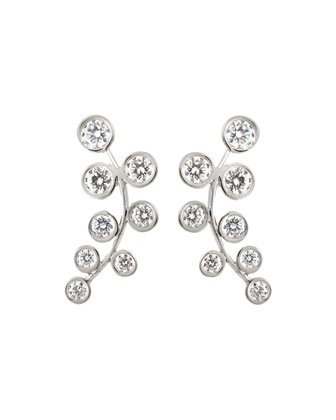 18k White Gold & Diamond Climber Earrings