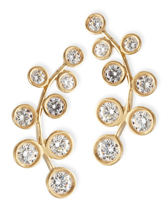 18k Yellow Gold & Diamond Climber Earrings