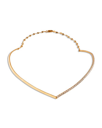 Fatale 14k Gold Choker with Diamonds