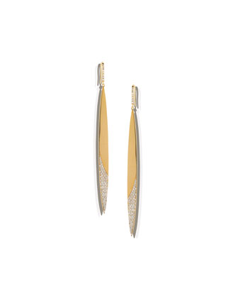 14k Diamond Femme Blade Earrings