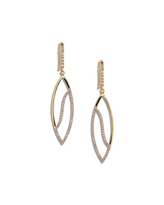14k Diamond Femme Large Marquis Earrings