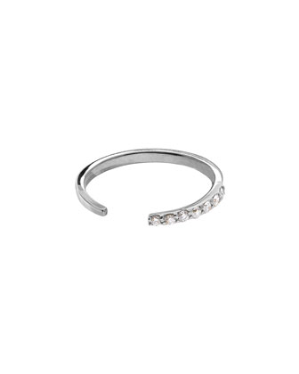 14k White Gold Diamond Femme Echo Ring
