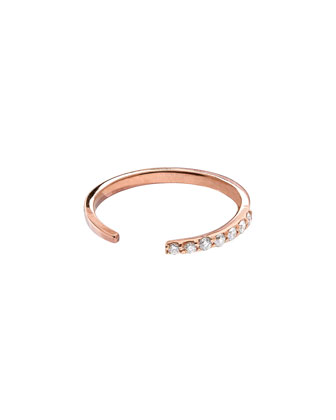 14k Rose Gold Diamond Femme Echo Ring