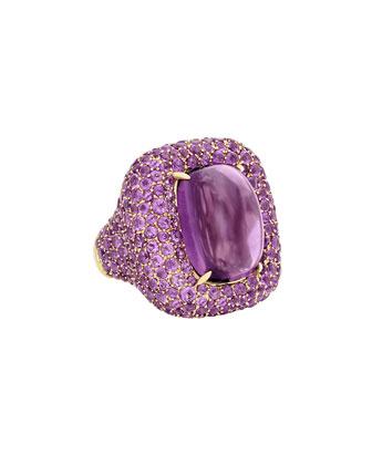 14k Rose Gold Diamond Femme Echo Bangle, Size 7