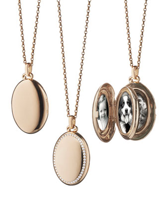18k Rose Gold & Diamond Locket Necklace