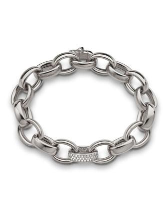 18k White Gold Marilyn Link Bracelet