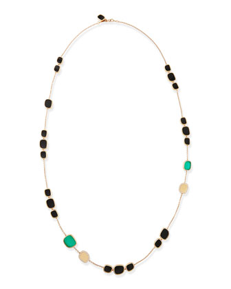 18k Rose Gold African Jade Collection Necklace with Green Agate & Diamonds ...